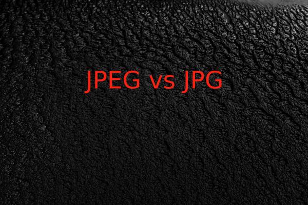 JPEG VS JPG