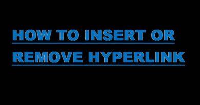 Insert or Remove Hyperlink