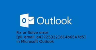 Fix or Solve error [pii_email_a427253221614b6547d5] in Microsoft Outlook